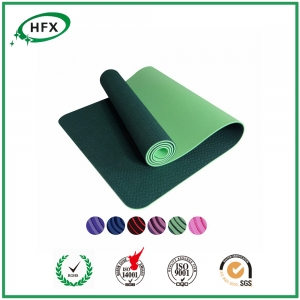 Anti-fatigue Softtextile And Single Color Yoga Mat