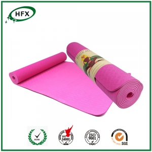 Embossed Logo Pink Exercise Mats