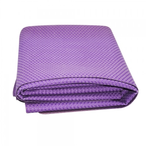 Wholesale Natural Rubber 1.5mm Yoga Mat Purple Foldable