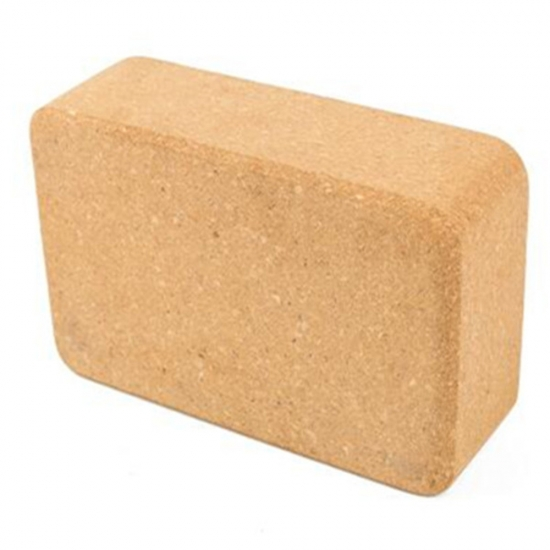 Wholesale 3 6 9 Inch Wooden Color Cork Yoga Blocks For