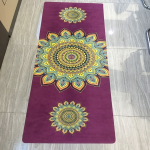 Custom Suede Fabric Rubber Yoga Mat Factory