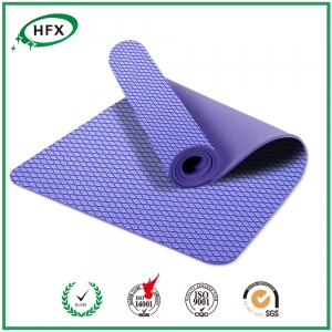 Anti Slip Single Color TPE Yoga Mats Fitness Pad