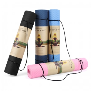High Quality Single Layer TPE Yoga Mats Fitness Pad