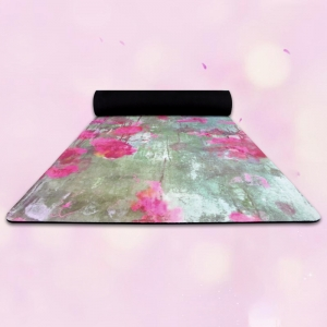 Custom Dye Sublimation Rubber Yoga Mats Fitness Pad
